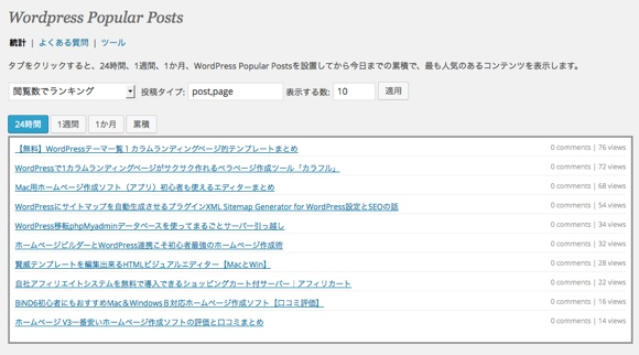 WordPress Popular Posts