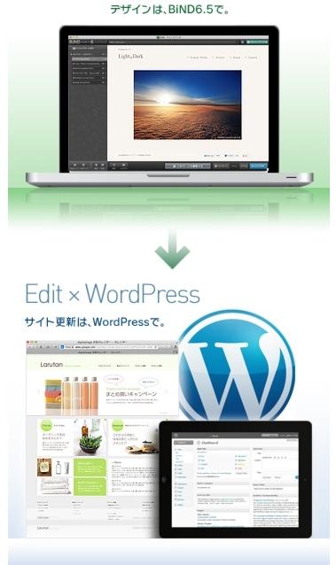 BINDのWordPress連携デザイン